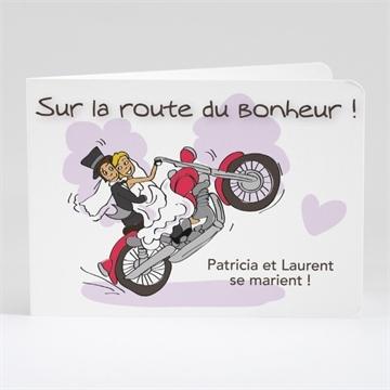 Faire Part Mariage Sur La Route Du Bonheur Monfairepartcom