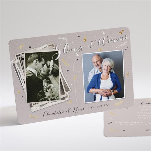 invitation anniversaire de mariage carte invitation avec. Black Bedroom Furniture Sets. Home Design Ideas