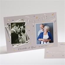 Faire part invitation 40 ans de mariage