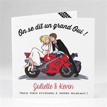 Faire part mariage original moto