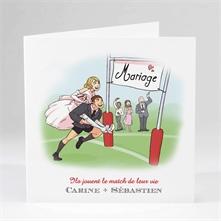 faire part mariage sport