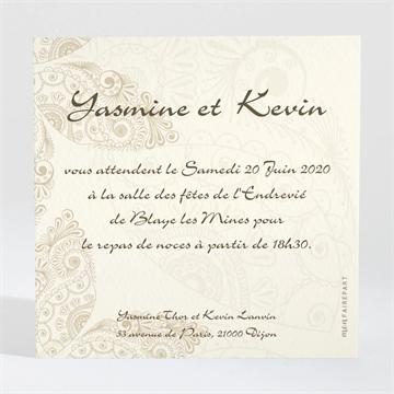 Carton Dinvitation Mariage Romantique Byzantin Du Faire