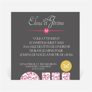 carton d 39 invitation mariage r f n300154 du faire part mariage r f n50134. Black Bedroom Furniture Sets. Home Design Ideas