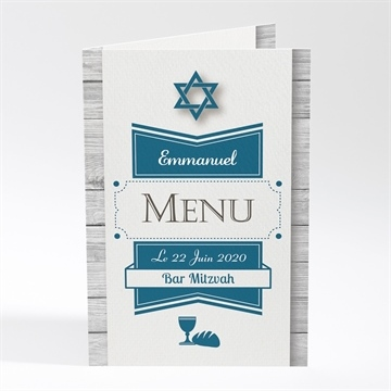 Menu bar mitzvah réf. N401355