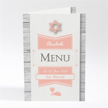 Menu bar mitzvah réf. N401356