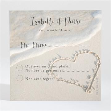 Carton réponse mariage réf. N300311