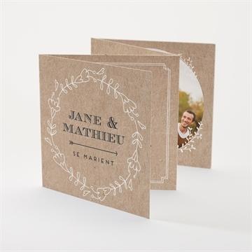 Superbe Faire-part mariage romantique sur MonFairePart. &ZS_35