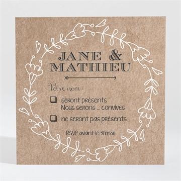 Carton réponse mariage réf. N300340
