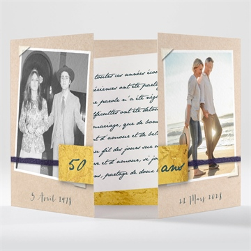 Invitation anniversaire de mariage réf. N70153