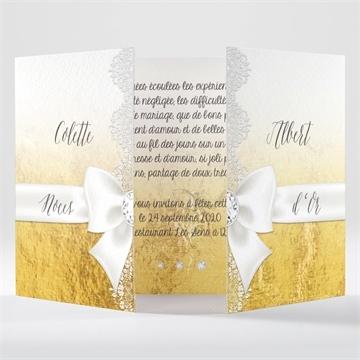 Invitation anniversaire de mariage réf. N70154