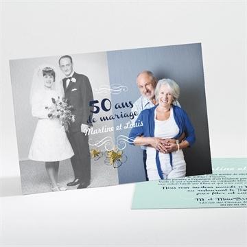 Invitation anniversaire de mariage réf. N11156