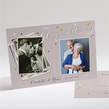 Invitation anniversaire de mariage réf. N14161