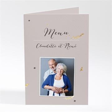 Menu anniversaire de mariage réf. N401486
