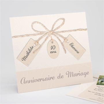 Invitation anniversaire de mariage réf. N311127