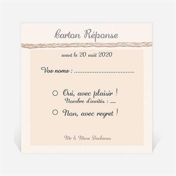 Carton réponse anniversaire de mariage réf. N300475