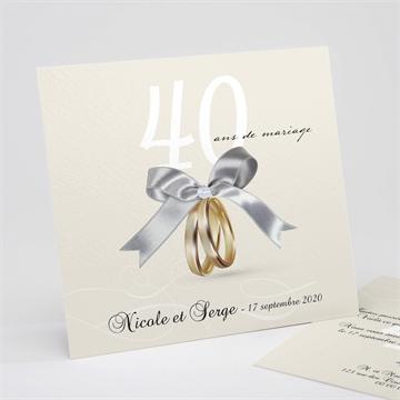 Invitation anniversaire de mariage réf. N311130