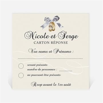 Carton réponse anniversaire de mariage réf. N300480