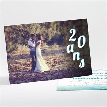 Invitation anniversaire de mariage réf. N11158