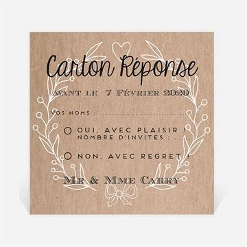 Carton réponse anniversaire de mariage réf. N300488