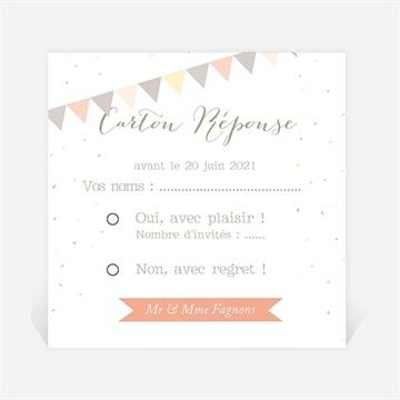 Carton réponse anniversaire de mariage réf. N300493