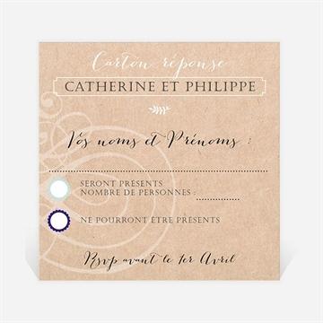 Carton réponse anniversaire de mariage réf. N300495