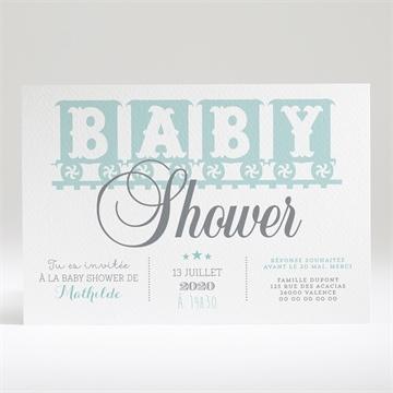 Faire-part baby shower réf. N14028