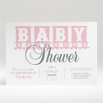 Faire-part baby shower réf. N14029