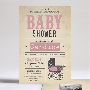 Faire-part baby shower réf. N24189