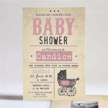 Faire-part baby shower réf.N24189