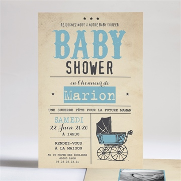 Faire-part baby shower réf. N24190