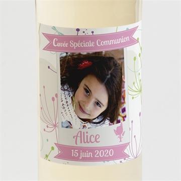 Etiquette de bouteille communion réf. N300508