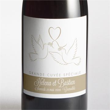 Etiquette de bouteille mariage réf.N300541