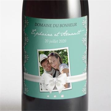 Etiquette de bouteille mariage réf. N300559