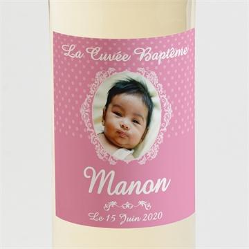 Etiquette de bouteille baptême réf.N300595