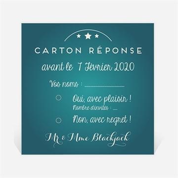 Carton réponse anniversaire de mariage réf. N300619