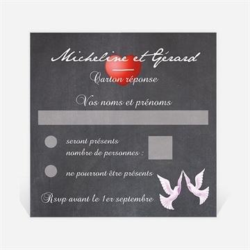 Carton réponse anniversaire de mariage réf. N300625