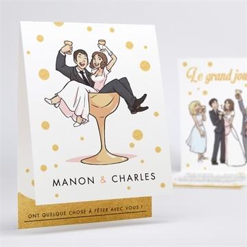 Faire-part mariage réf. N50161