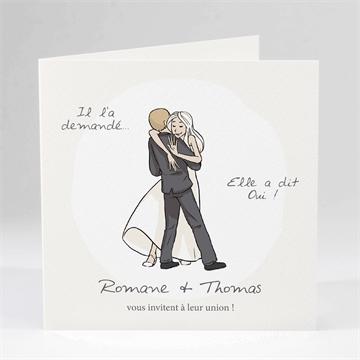 Faire-part mariage réf. N45149