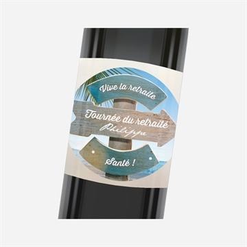 Etiquette de bouteille départ retraite réf.N3001146