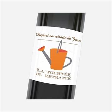 Etiquette de bouteille départ retraite réf.N3001150