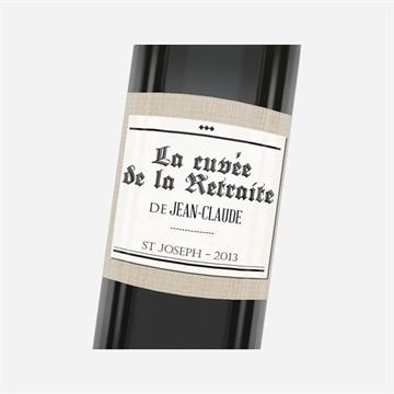Etiquette de bouteille départ retraite réf.N3001162