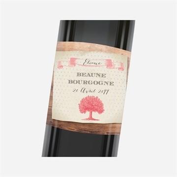 Etiquette de bouteille départ retraite réf.N3001164