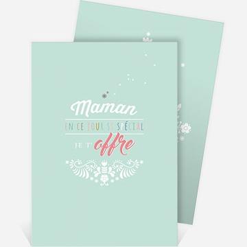 Carte fête des mères réf. N211115