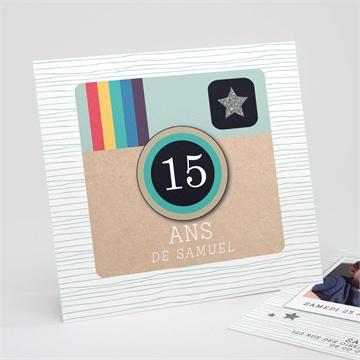 Invitation anniversaire réf.N311153
