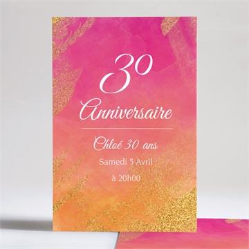 Invitation anniversaire réf. N241119
