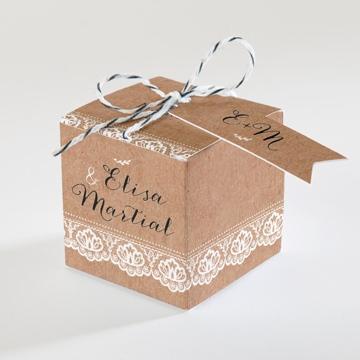 Boîte de dragées mariage réf.N34063