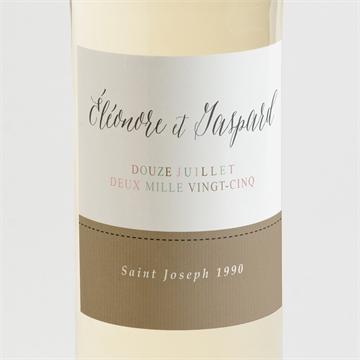 Etiquette de bouteille mariage réf. N3001336