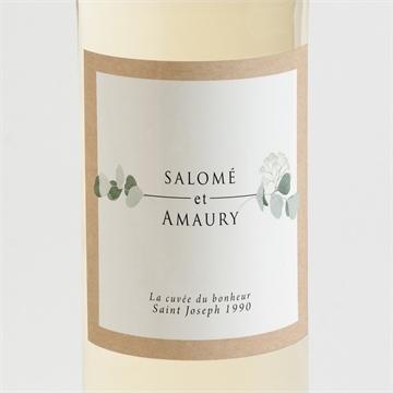 Etiquette de bouteille mariage réf.N3001345