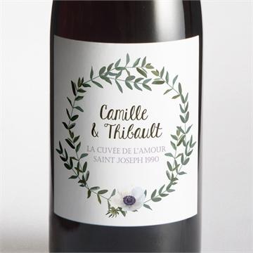 Etiquette de bouteille mariage réf. N3001351