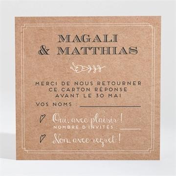 Carton réponse mariage réf. N3001366